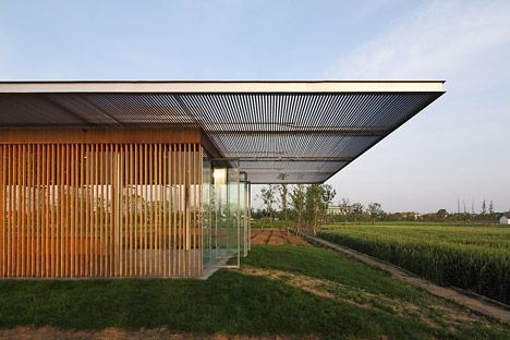 The Roof Of The Harvest Pavilion Is Made From Aluminium