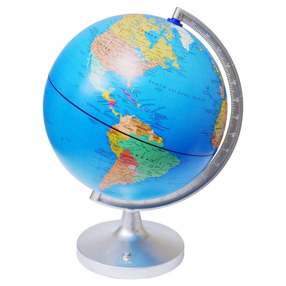 EDU-Toys 11 Dual Cartography Illuminated Globe