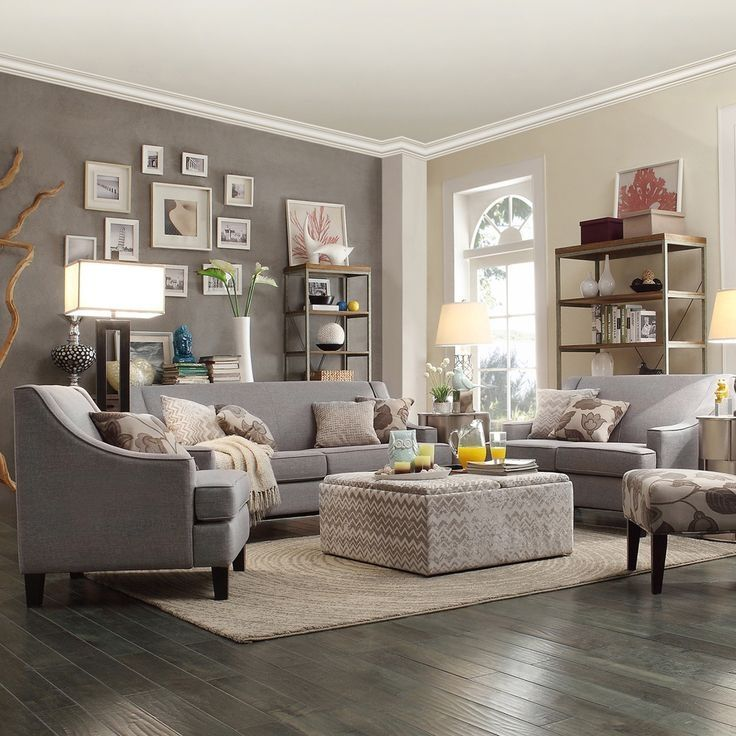 Graue Wände Wohnzimmer: Grey Accent Walls Wohnzimmer