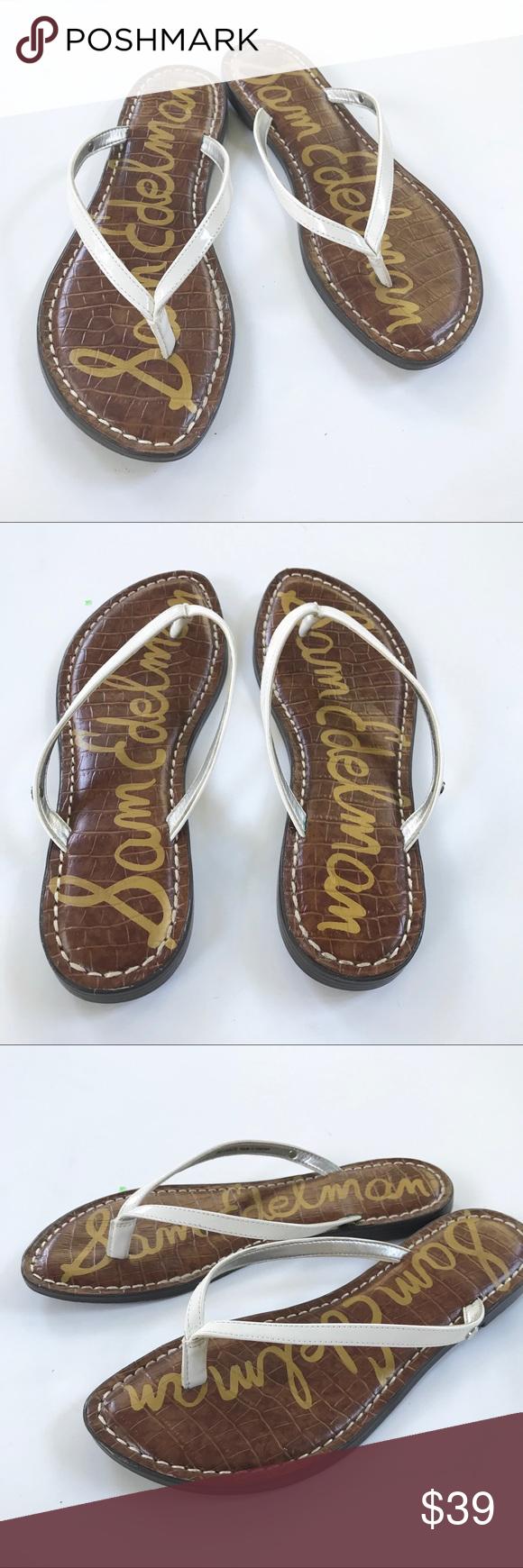 7068ee44cf53c3 Sam Edelman Gracie Thong Flip Flip Sandals 8 Sam Edelman classic sandal in  a neutral white