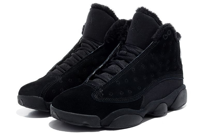 new style 7cffd ad207 Air-Jordan-13-Inside-with-fluff-All-Black for black sheep