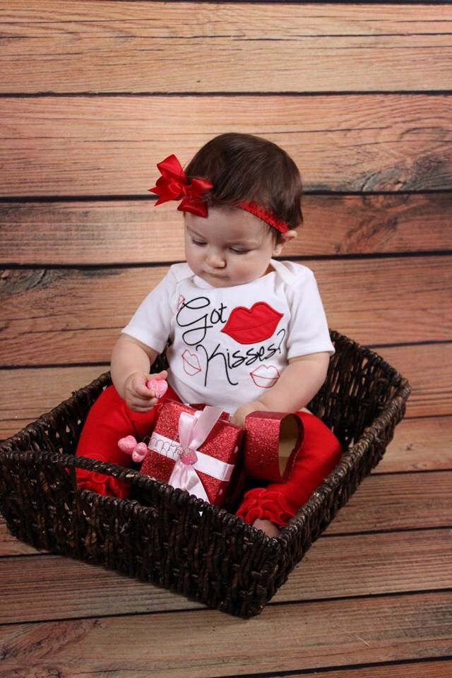 Valetine's Day Bodysuit Lips Got Kisses Baby Girl Clothes Newborn Baby Girl  Take Home Outfit Toddler Girl 5T Girl Valentine's Day Baby Gift