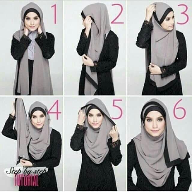 Long Shawl Tutorial Hijab Style Tutorial Hijab Tutorial Hijab Fashion