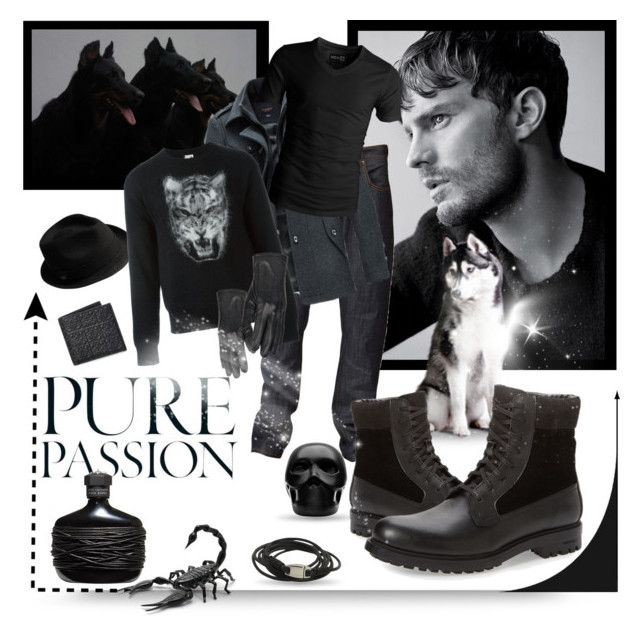 """""""▲ ◄ ✪▲☯▲✪►▲"""" by missanacreativityinstyle ❤ liked on Polyvore featuring Nudie Jeans Co., Calvin Klein, American Eagle Outfitters, Loewe, Bailey, John Varvatos, Yves Saint Laurent, Wilsons Leather, Gio Pagani and NOVICA"""