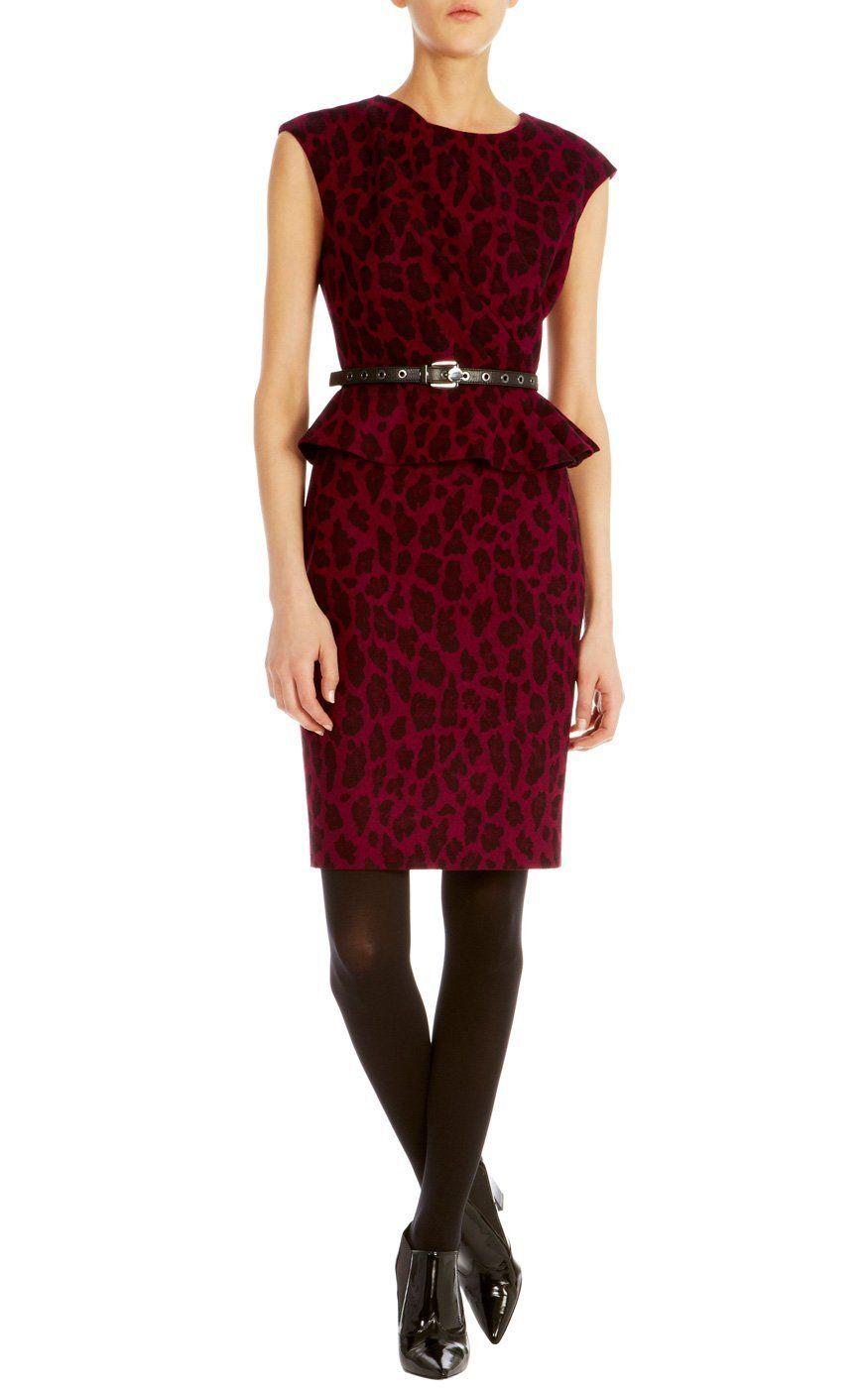 6942650dafe727 Karen Millen Leopard wool jacquard dress   Dresses