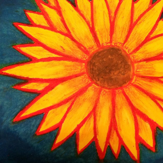 sun flower oil pastel my art pinterest pastels oil