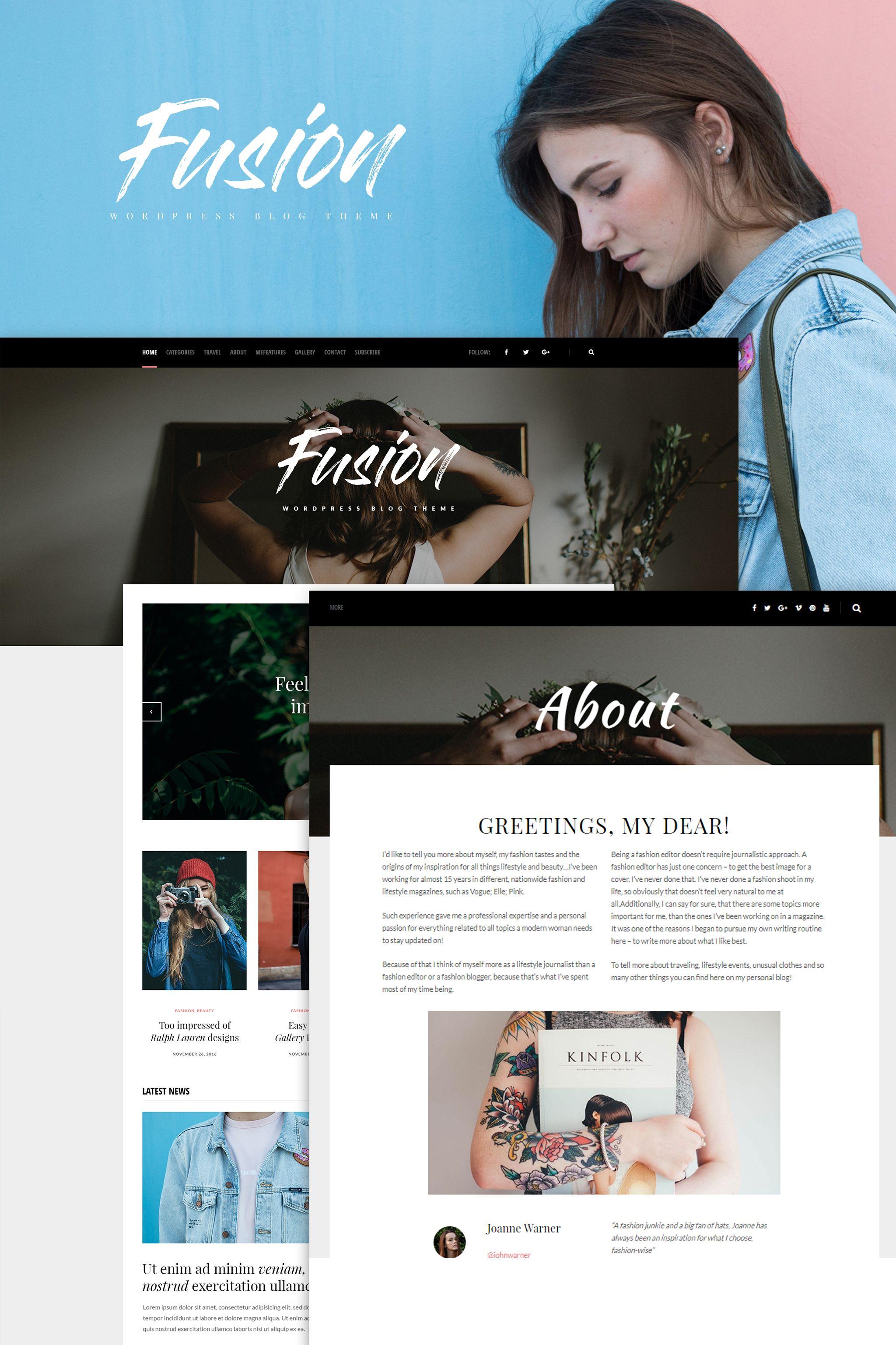 Fusion - WordPress Blog Theme   Wordpress and Wordpress blog themes