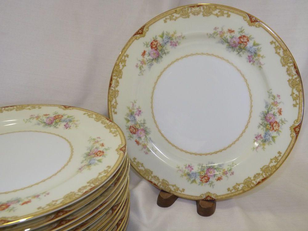 Vintage Noritake China Topaze Dinner Plates sold in sets of 4 & Vintage Noritake China Topaze Dinner Plates sold in sets of 4 ...