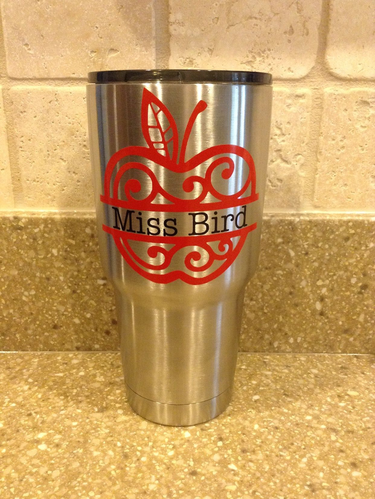 Name Decal  Yeti Decal  SIC Decal  RTIC Decal  Corkcicle - Vinyl for cup