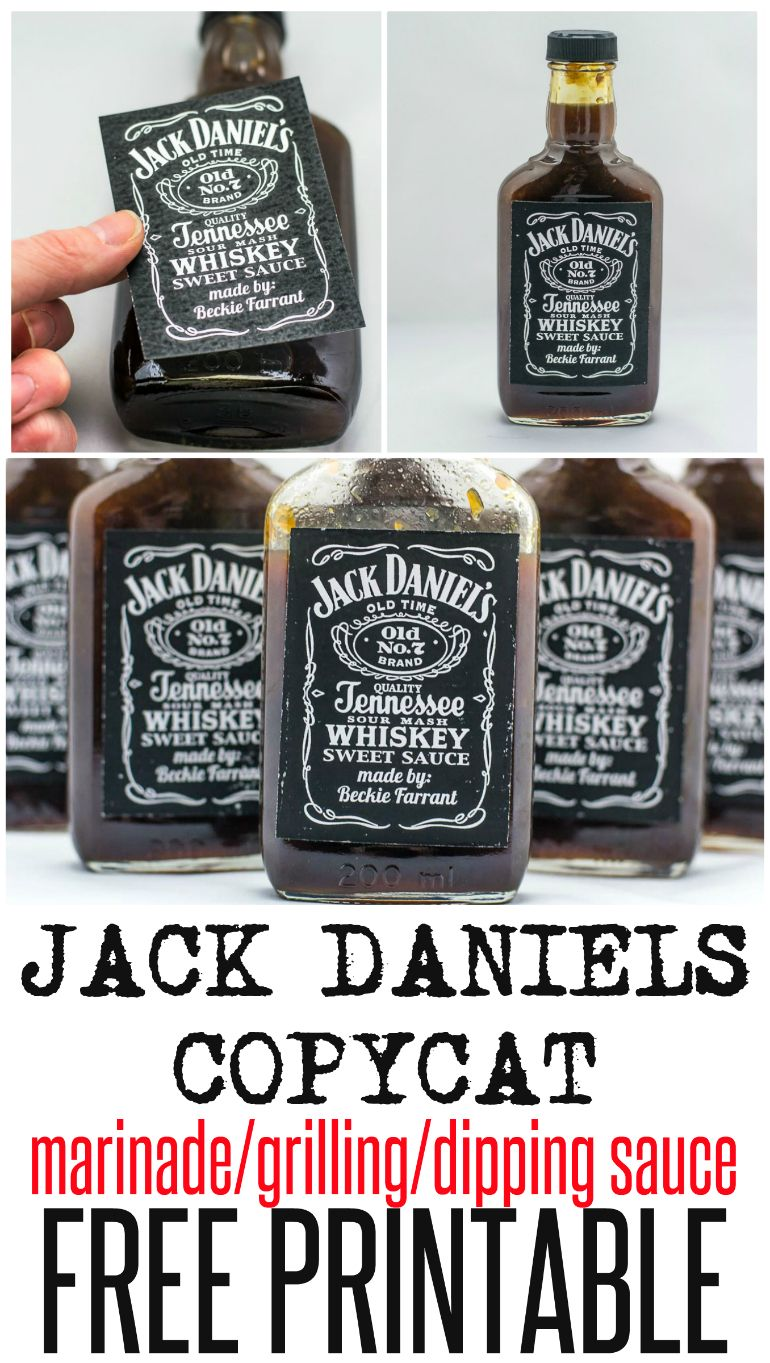 jack daniel s grilling marinade sauce with free printable