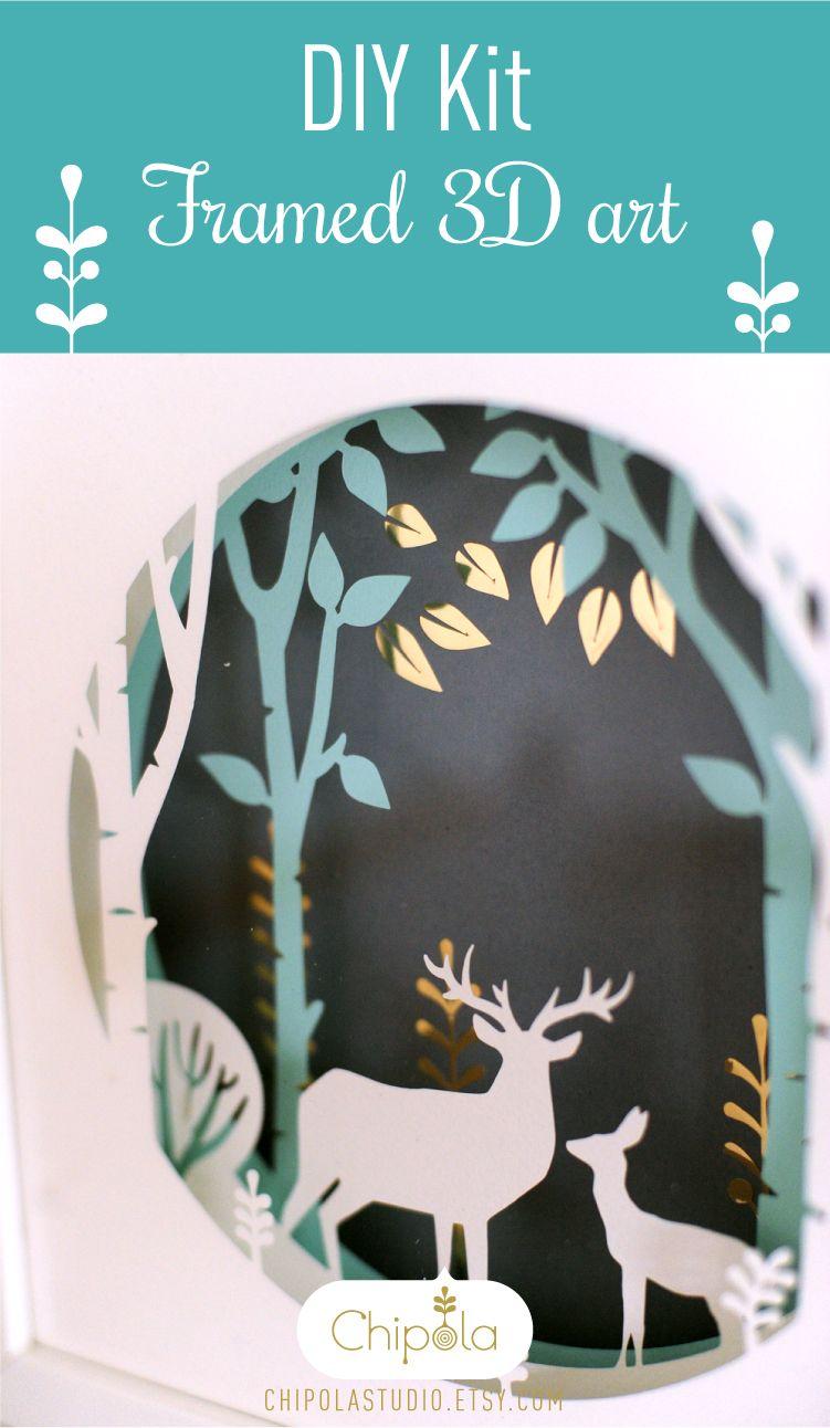 Diy Kit, art DIY shadow box kit, bridesmaid gift, housewarming gift ...