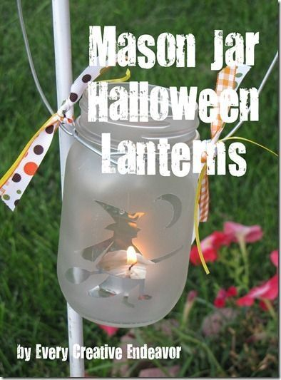 Mason Jar Idea! Vinyl Pinterest Jar, Craft and Holidays - halloween jar ideas