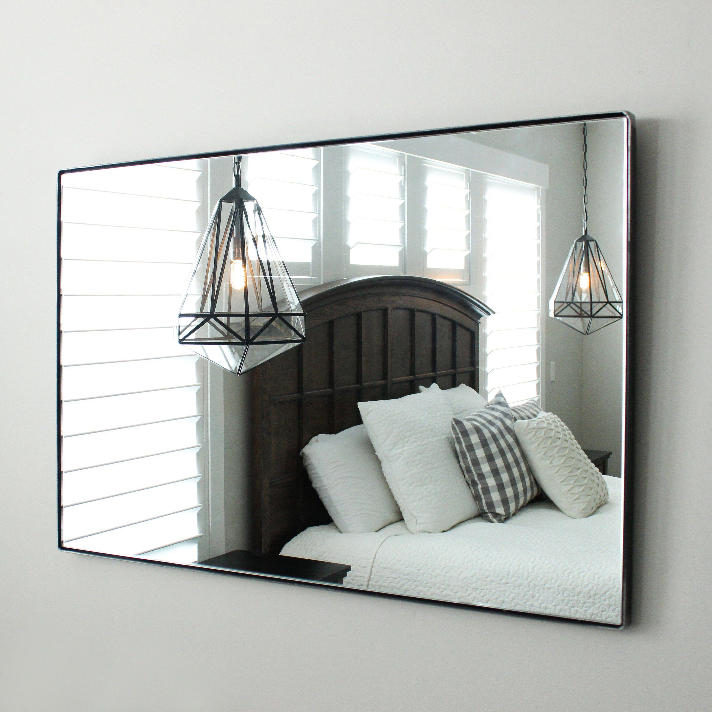 Large Modern Wall Floating Mirror Bathroom Vanity Decorative Etsy Mirror Wall Bedroom Mirror Wall Mirror Design Wall