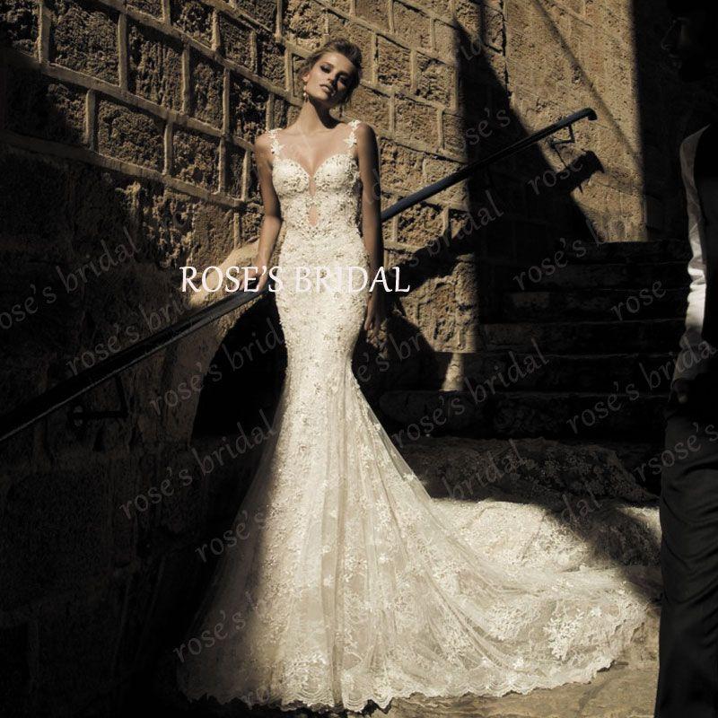 Backless Long Tail Mermaid Lace Wedding Dress Online Shop China Boda ...