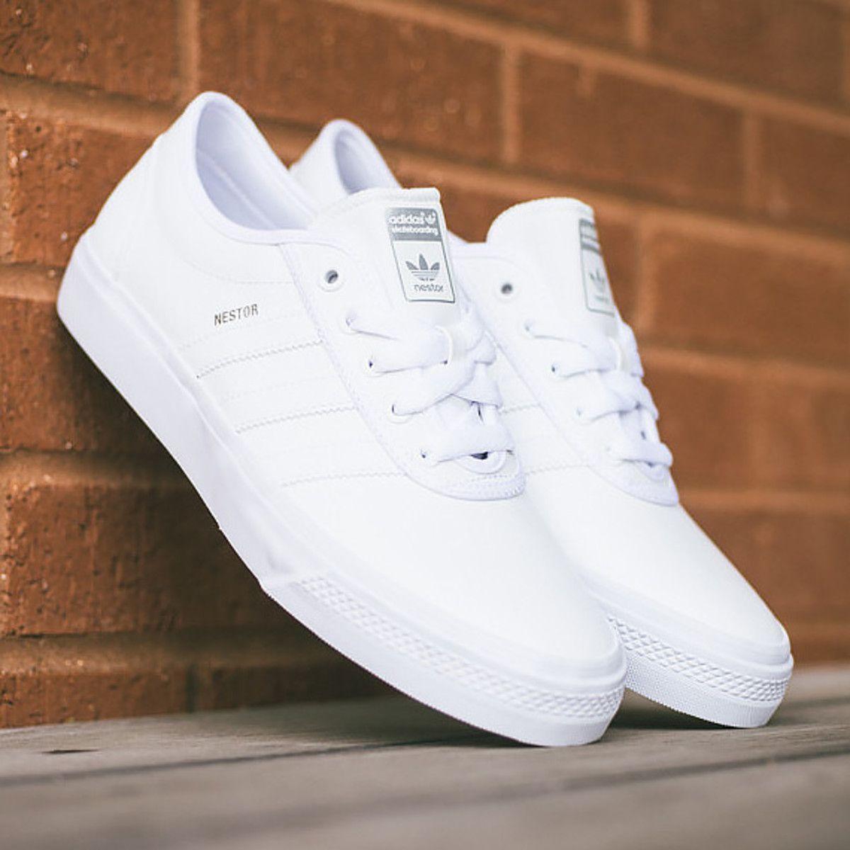 """adidas Skateboarding adi-Ease Nestor - """"All White""""  3be46c37ba"""