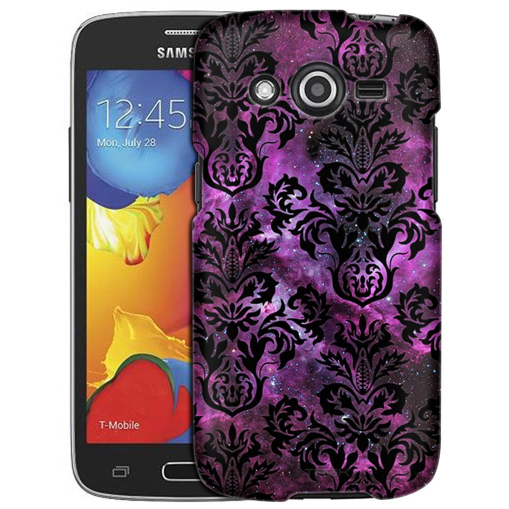 Samsung Galaxy Avant Damasks Floral Black on Nebula Slim Case