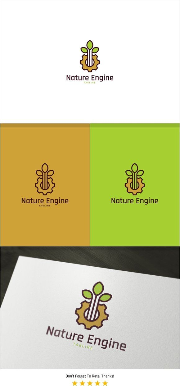 Nature Gear Logo Templates NOTE View Full Size Image To Other Presentation Variations Color Mockup Background By PC Design