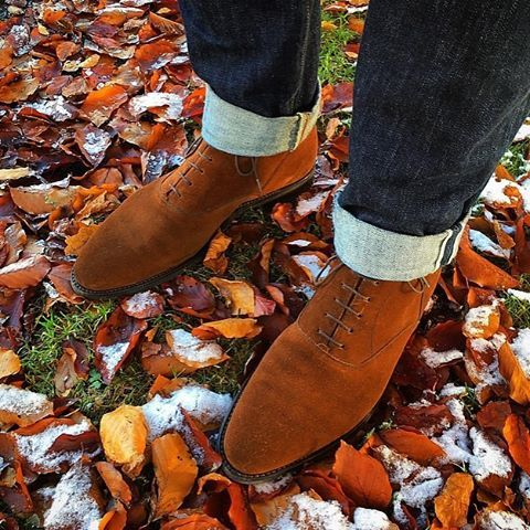 Perfect Conditions Today To Bring Out These Bad Boys From Storage 3c And A Clear Blue Sky Jiftzpatrick Jfitzpatrickfoot Dress Shoes Men Chukka Boots Boots