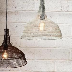 Metal Wire Mesh Pendant Lamp Shade Conical Industrial Loft Style Wire Lampshade Pendant Lamp Shade Metal Lamp Shade
