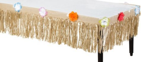 Natural Grass Paper Table Skirt 15in X 9ft Party City