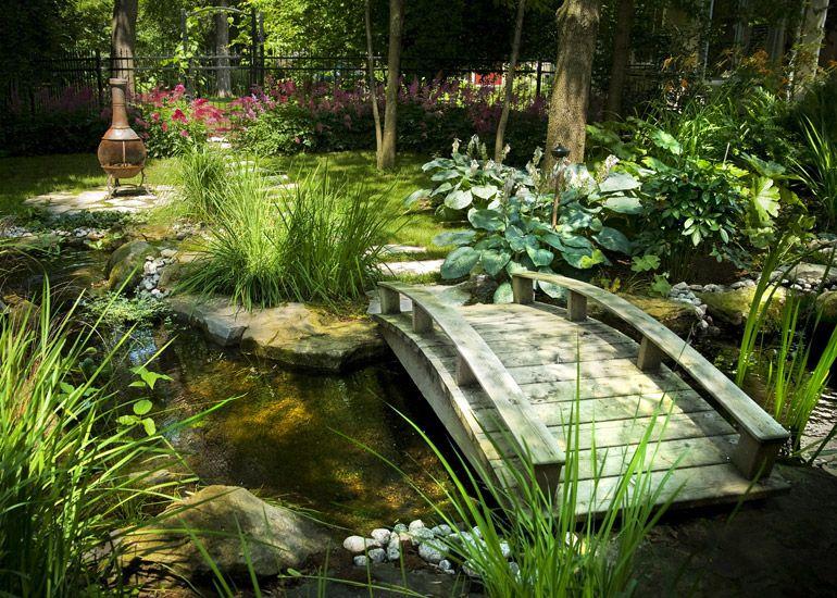J 39 adore le principe du jardin d 39 eau avec un petit pont zen for Petit amenagement paysager