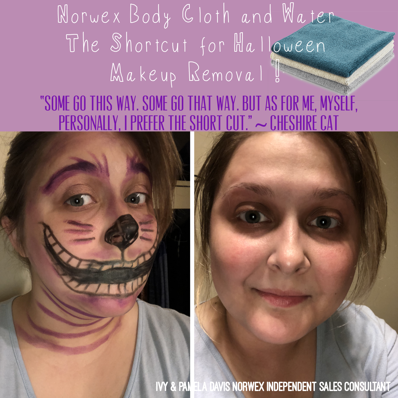Make up removal shortcut. Water and a Norwex body cloth