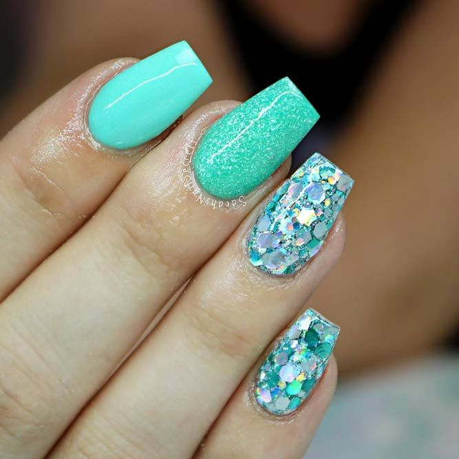 35 Outstanding Short Coffin Nails Design Ideas For All ...