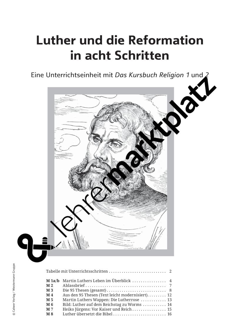 Luther und die Reformation in acht Schritten | Kostenlose ...