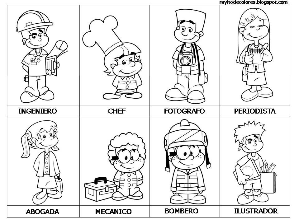 Profesiones y oficios  Spanish Community helpers and Worksheets