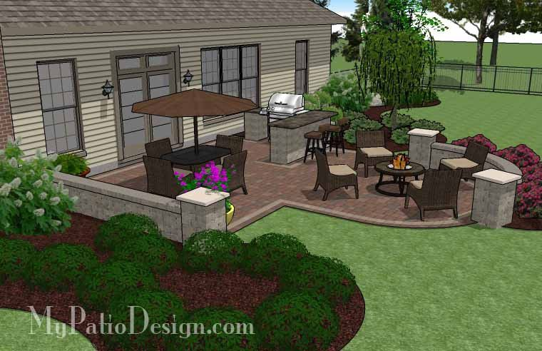 Creative Backyard Patio Design With Grill Station Bar And