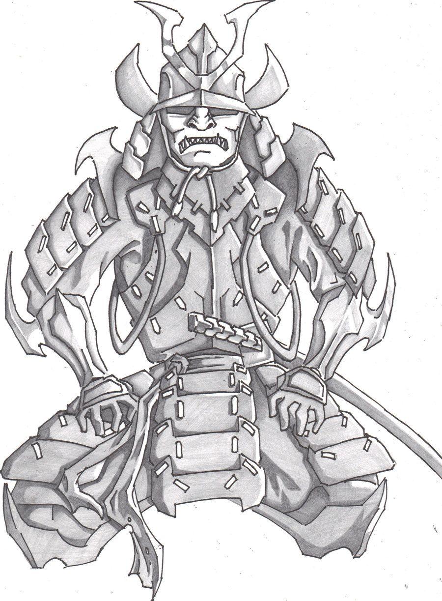 самурай арты карандашом хотя вскоре был