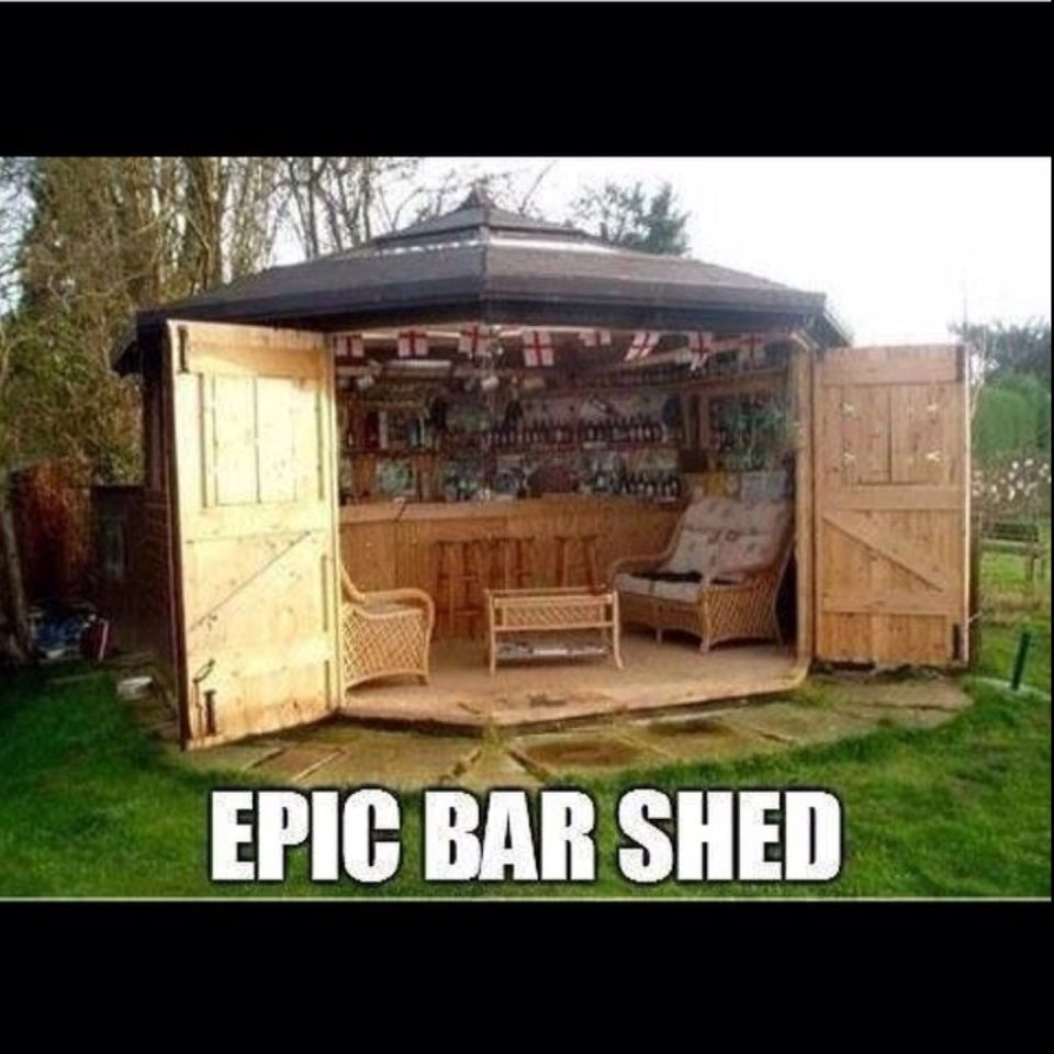 the ultimate men u0027s shed lol backyard entertainment areas pinterest
