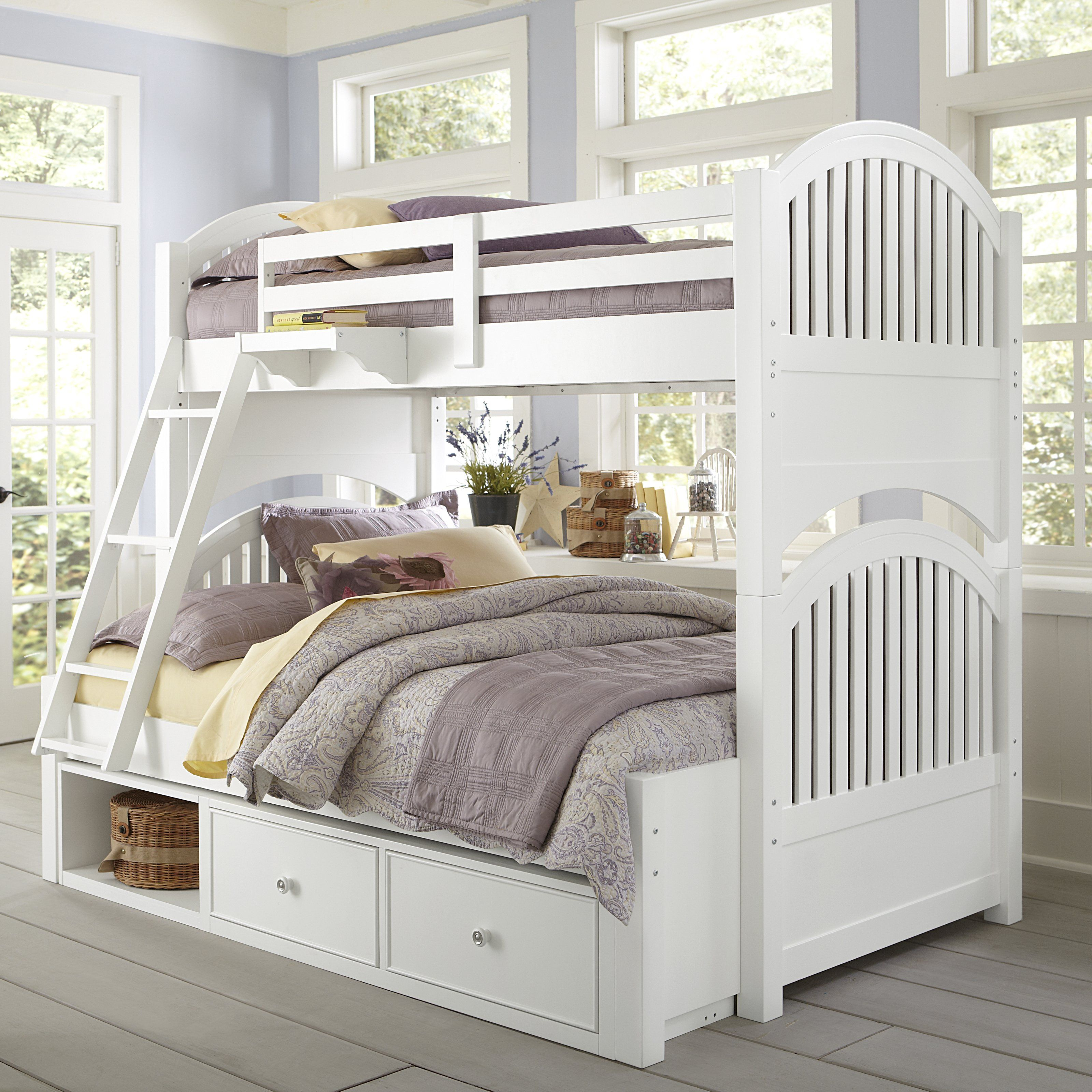Adrian Twin over Full Bunk Bed 1119 hayneedle. White