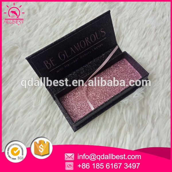5f3c4c5e214 luxury glitter custom eyelash packaging box with stamping logo Alan W  www.qdallbest.com info@qdallbest.com whatsapp:+86 18561673497