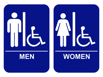 Ada Men S Women S Handicap Restroom Signs Bathroom Signs