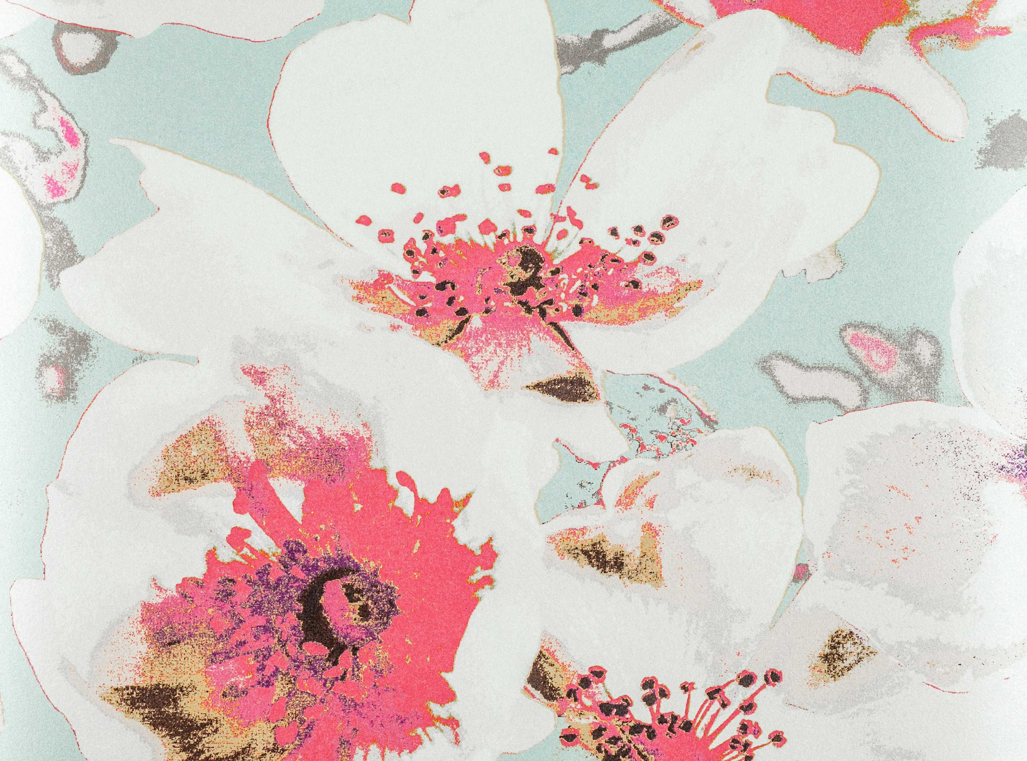 an innovative and stunning large scale floral design digitally