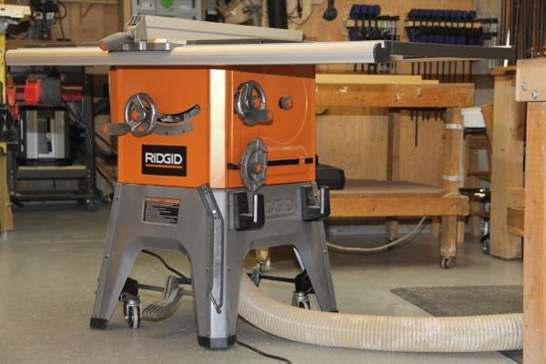 Ridgid 10 Inch 13 Amp Table Saw R4512 Review And Video We Recently Took A