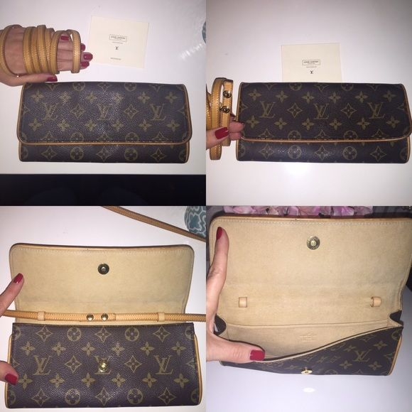 Louis Vuitton Pochette Twin GM Clutch or Crossbody Louis Vuitton Pochette  Twin GM (large) crossbody or clutch. Excellent condition. Comes with dust  bag and ... fa862ed7ef36e