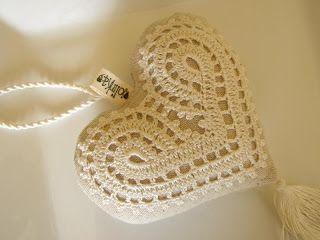 ♥ Corazón de ganchillo #crochet #hearth