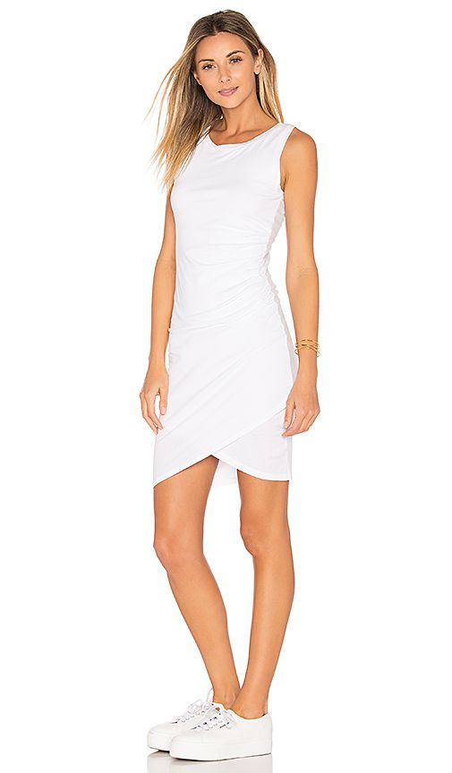 For Bobi Supreme Jersey Ruched Bodycon Dress In White At Revolve Free 2 3 Day Shipping And Returns 30 Match Guarantee