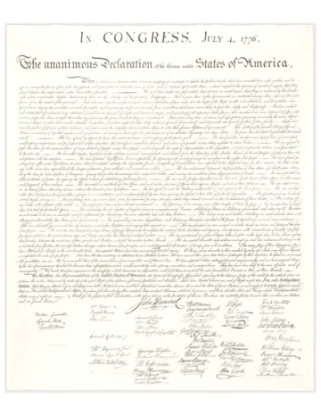 The Declaration Of Independence Declaration Of Independence Declaration Words