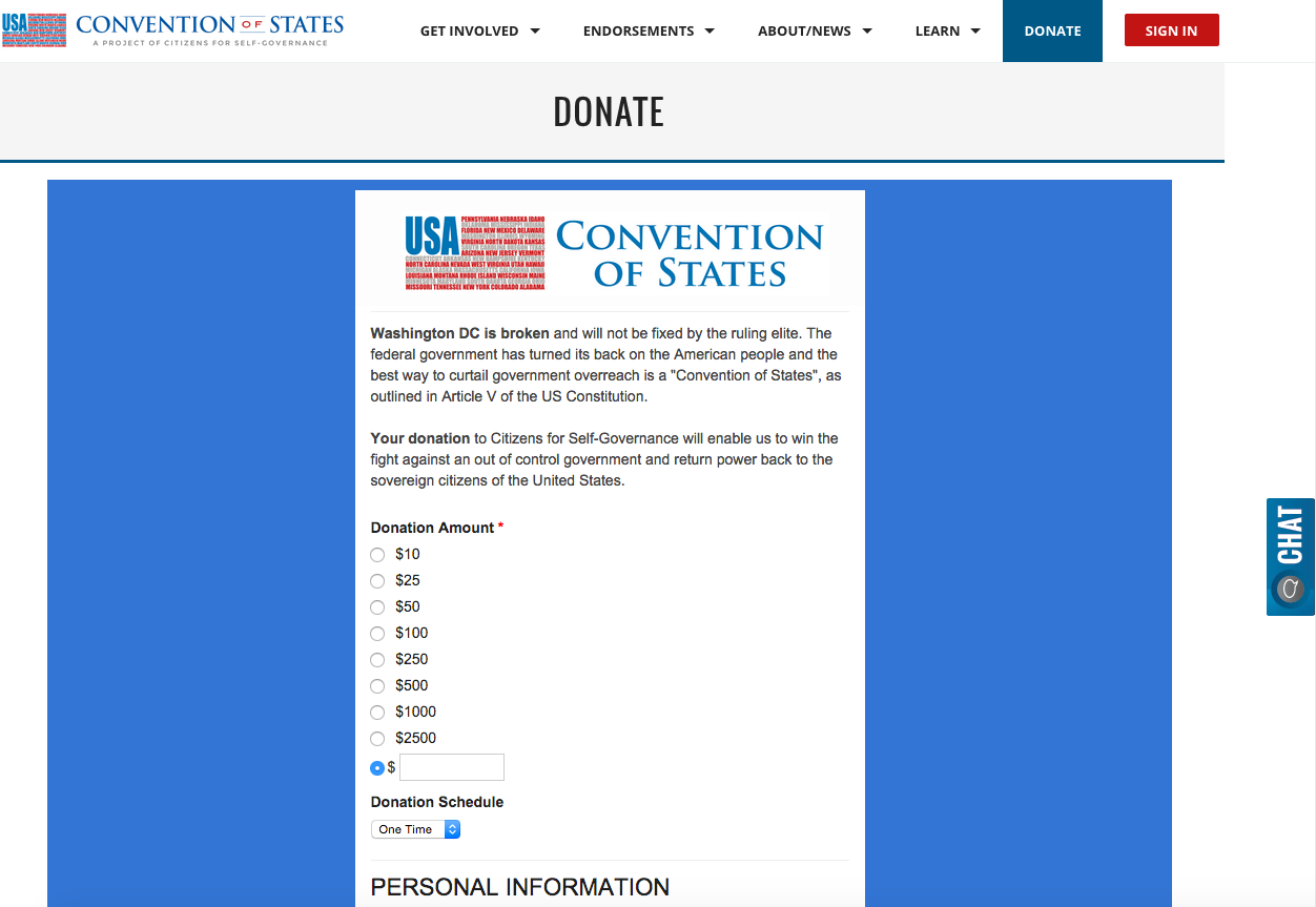citizens for self goverance donation form cool lgl forms examples