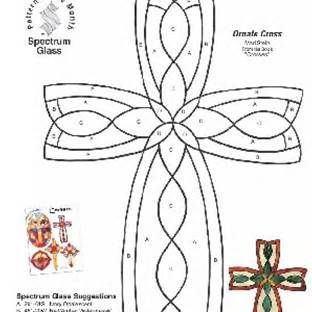 Free Printable Stained Glass Cross Patterns Stained Glass