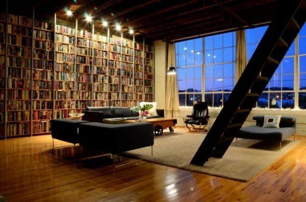 30 Ideen Fur Fabelhafte Bucherregale Bucherregal Beleuchtung Regal Wohnen