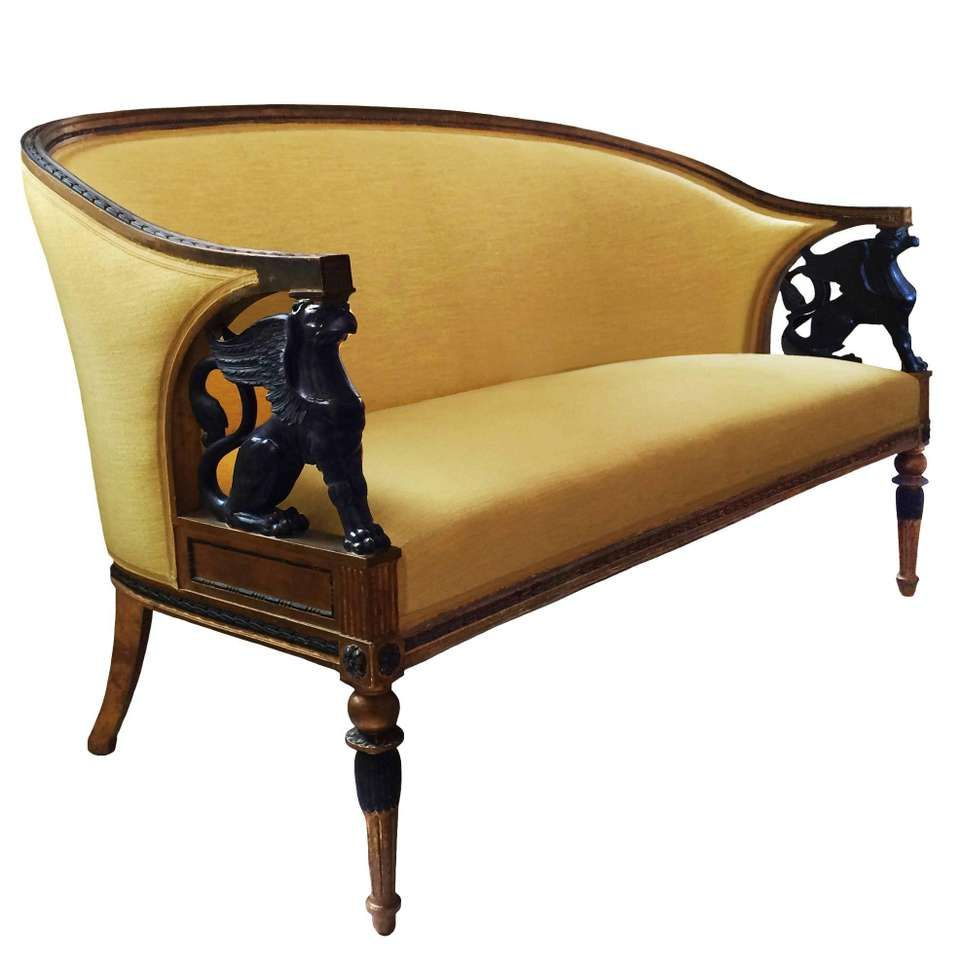 Early 19th Century Swedish Empire Style Settee 1 Vintage Settee Furniture Empire Furniture