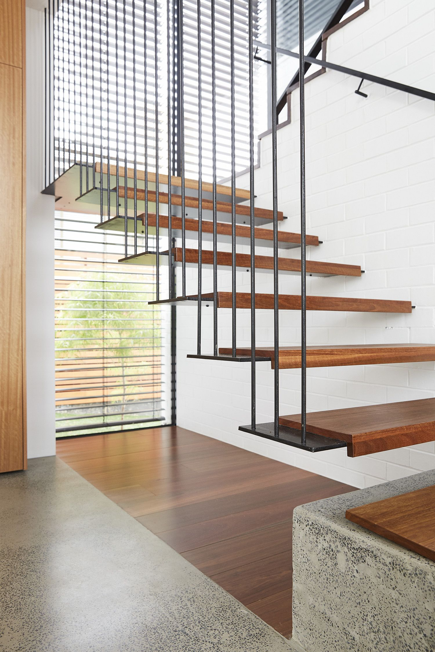 Cantilevered Stair Butted Treads Iron