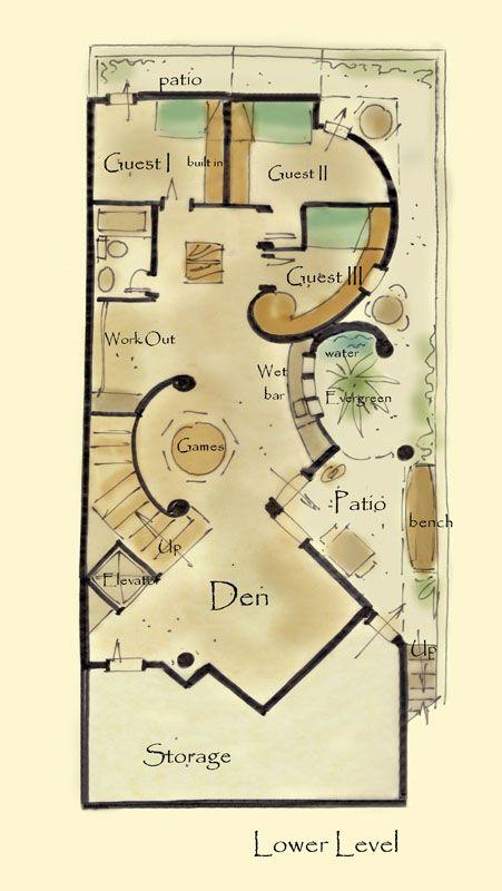 Narrow House Plan Anastasia Aboveallhouseplans Com Flw Flw Jr
