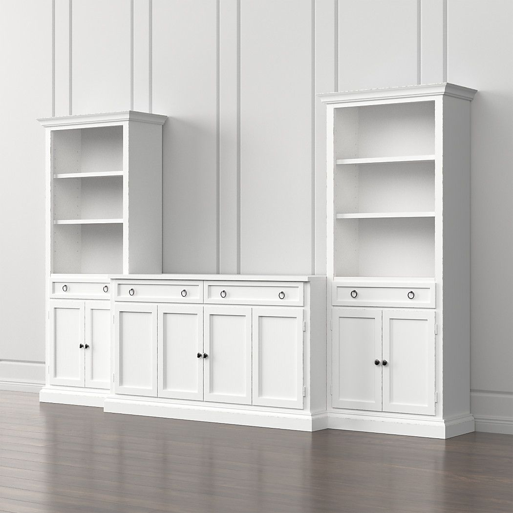 Cameo 3 Piece Modular White Media Entertainment Center With