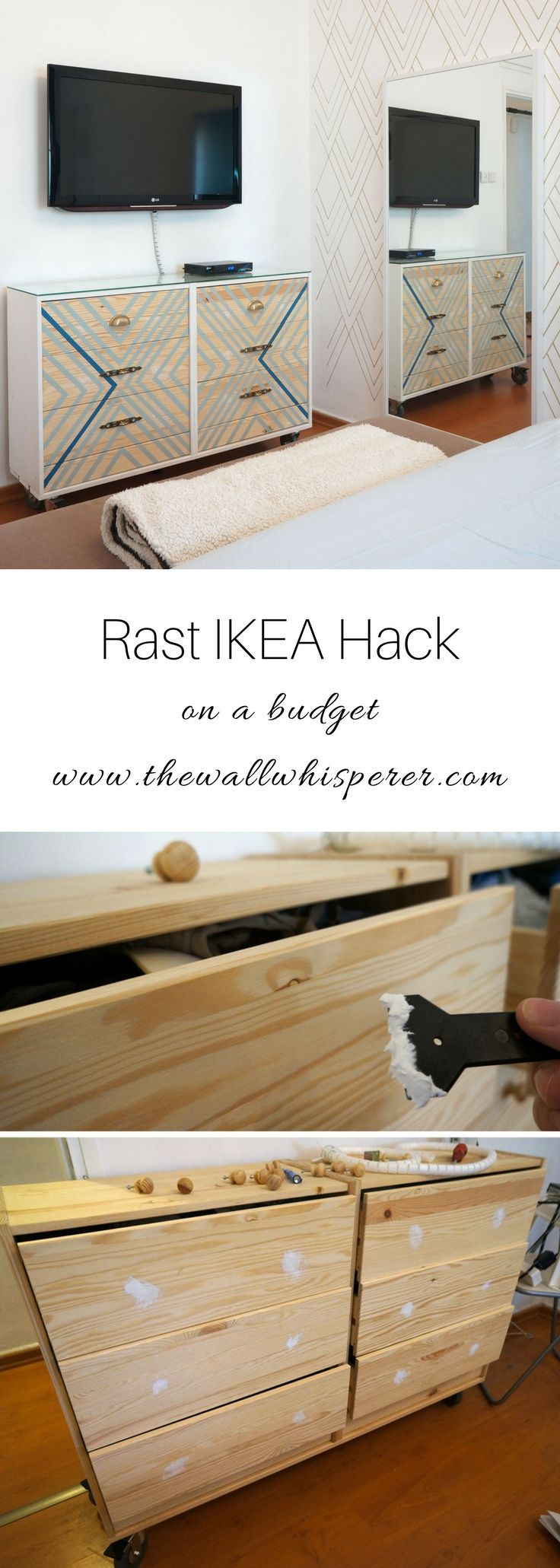 Rast IKEA Hack  Paint Patterns and Pulls  quick on a budget DIY project is part of Home Accents Ikea Hacks - Breath taking result  New Pulls and some paint to give a designers touch to you generic Rast dresser  A simple and cheap DIY project  IKEA Hack