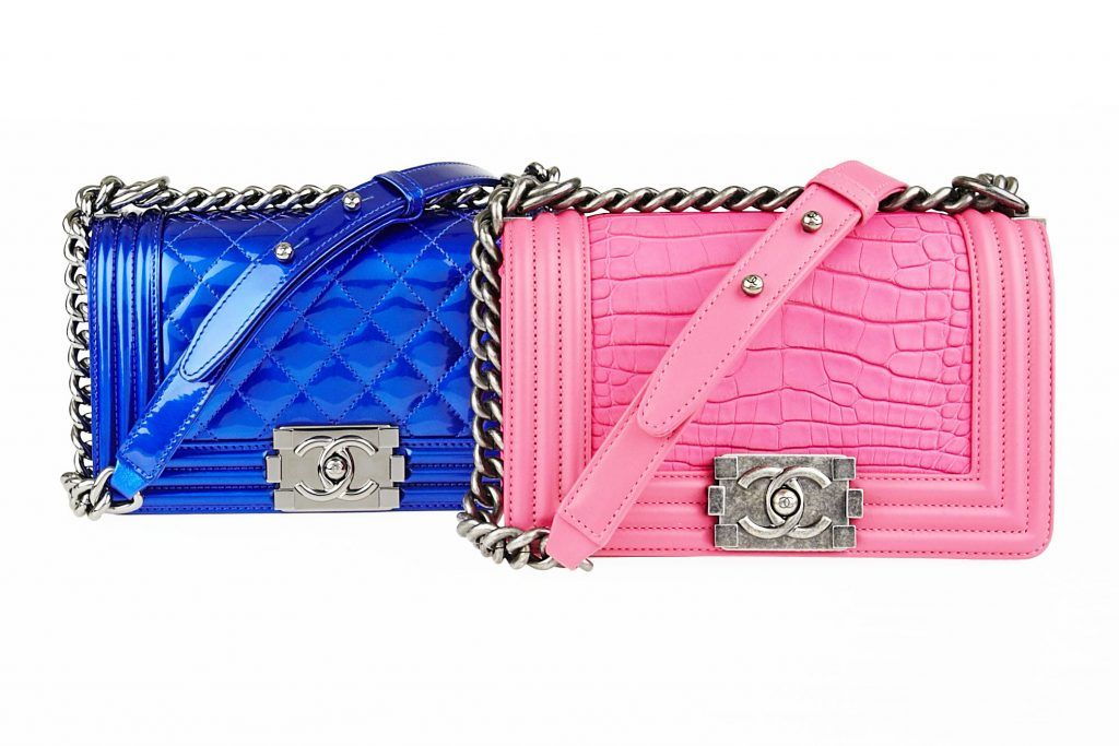 e57496c52c5d Chanel Electric Blue Patent Boy Bag and Chanel Pink Alligator Boy Bag on  The Chanel Boy Bag Guide